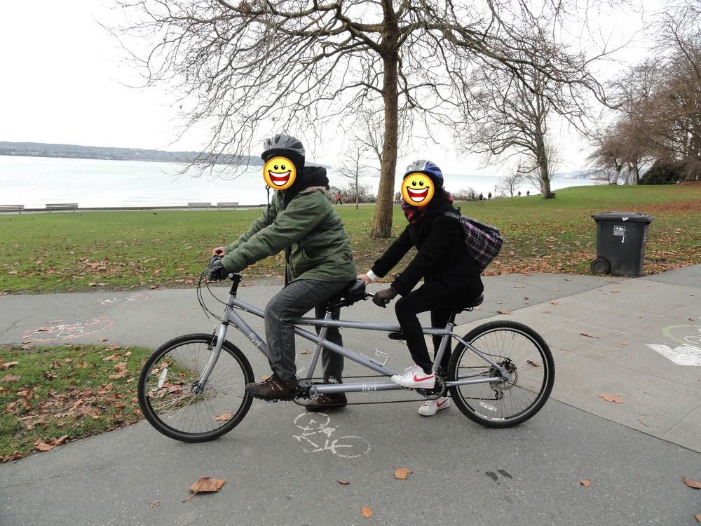 スタンレーパークでサイクリング