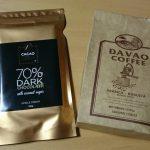ダバオ産コーヒー豆とチョコレート